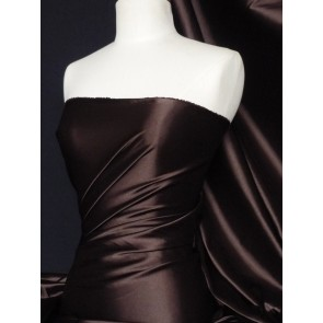 Brown Fluid Super Soft Satin Stretch Fabric Q855 BR