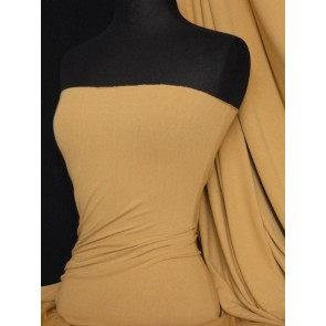 Camel Crepe 4 Way Stretch Jersey Fabric Q263 CML