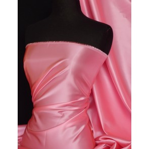 Candy pink acetate satin fabric material Q824 CDPN