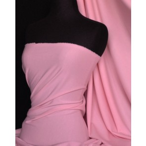 Candy Pink Soft Fine Rib 100% Cotton Jersey Knit Q61 CDPN