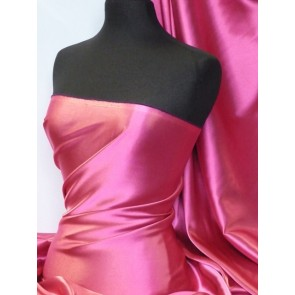 Cerise Medium Weight Satin Fabric Q243 CRS