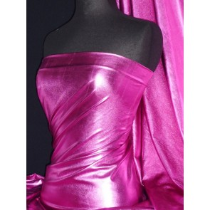 Cerise Metallic Foil Stretch Fabric NG253 CRS