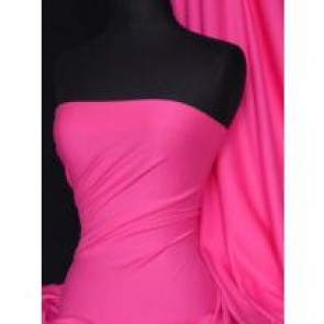 Cerise Pink Cotton Interlock Jersey Fabric Q60 CRS