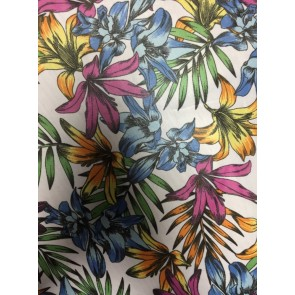 Tropical Jungle Soft Touch Chiffon Sheer Fabric CHF233 IVMLT