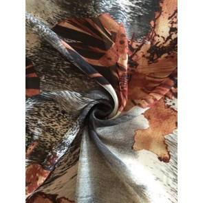 Wilderness Grey/Brown Soft Touch Chiffon Sheer Fabric CHF244 GRBR