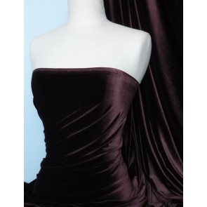 Chocolate velvet/velour 4way stretch spandex lycra