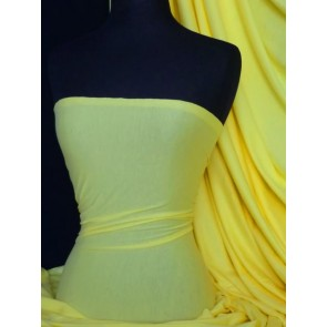 Yellow Stretch Light Cotton Jersey Fabric T -Shirts Q1249 YL