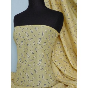 Yellow Clair Ditsy Floral 100% Cotton Poplin Fabric Q625 YL
