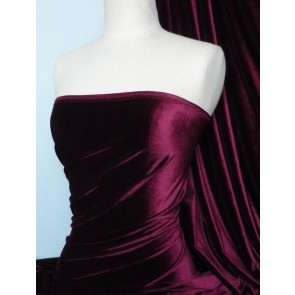 Claret Velvet 4 Way Stretch Spandex Lycra Q559 CLT