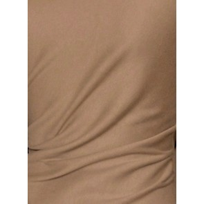 Clearance Mocha Cotton Interlock Material Tubular CLINT MCH