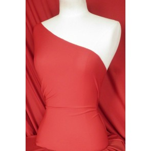 Clearance Tomato Red Lucci Stretch Fabric SQ108 TMRD