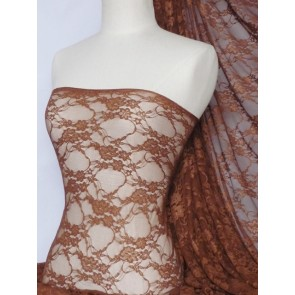 Copper flower soft stretch lace wiith lycra Q137 COP
