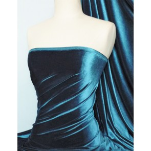Teal Velvet 4 Way Stretch Spandex Q559 TL