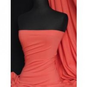 Coral cotton lycra jersey 4 way stretch fabric Q35 CRL