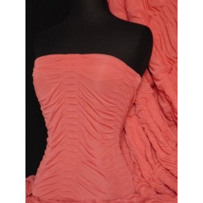 Coral Ruched Catwalk Look 4 Way Stretch Fabric Q802 CRL