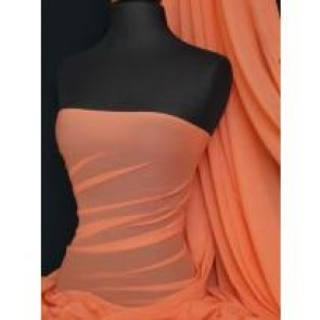 Coral Stretch Helenka Mesh Sheer Fabric Q443 CRL