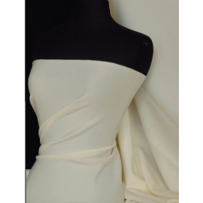 Cream Scuba 4 Way Stretch Poly Lycra Q792 CRM