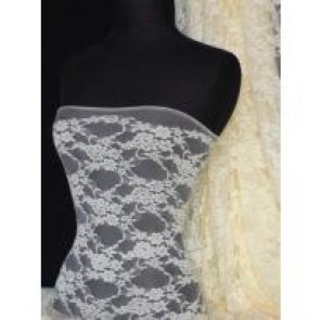 Cream flower soft stretch lace with lycra