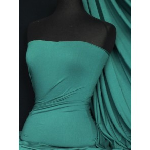 Dark Sea Green Heavy Viscose Stretch Lycra Fabric Q896 DKSGRN