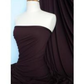 Dark Chocolate Viscose Cotton Stretch Lycra Q300 DKCHO