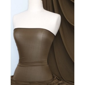 Dark Khaki Diabolo Shimmer 4 Way Stretch Fabric 42TQ