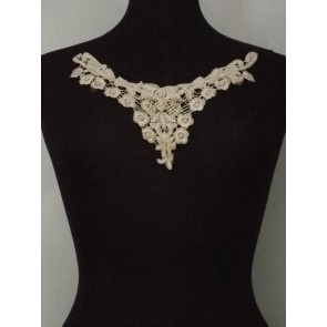 Vanilla Cream Lace Neck Piece EM138 CRM