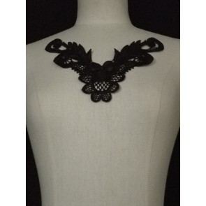 Jet Black Beaded Neck Piece EM139 JBK