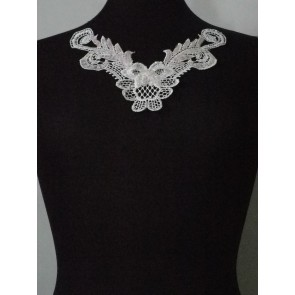 Angel White Lace Neck Piece EM140 WHT