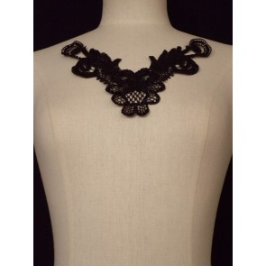 Black Lace Neck Piece EM140 BK