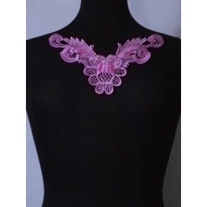 Violet Purple Lace Neck Piece EM140 VLT
