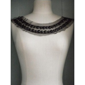 Black Jewels Round Neck Piece EM39 BK
