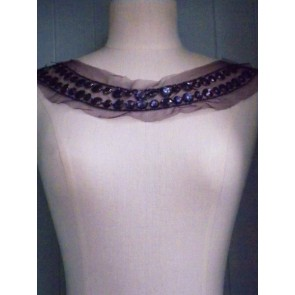Purple Jewels Round Neck Piece EM40 PPL