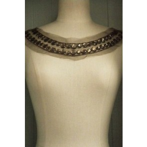 Olive Green Jewels Round Neck Piece EM41 OLGR