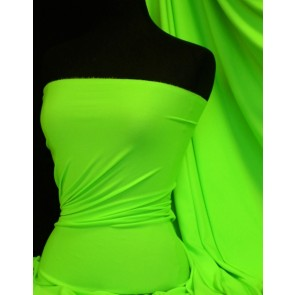 Enya crepe neon lime green 4 way stretch jersey fabric Q1169 NLGRN