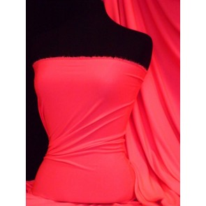Neon Pink Enya Crepe 4 Way Stretch Jersey Fabric Q1169 NPN