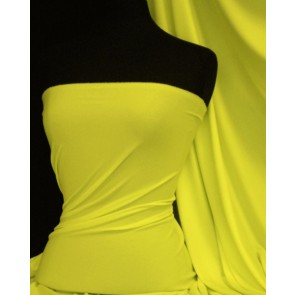 Neon Yellow Enya Crepe 4 Way Stretch Jersey Fabric Q1169 NYL