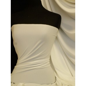 White Enya Crepe 4 Way Stretch Jersey Fabric Q1169 WHT