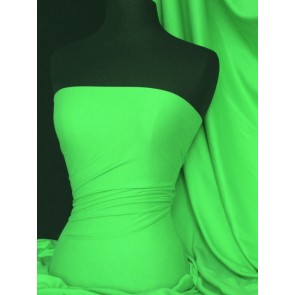 Flo Green Cotton Interlock Jersey Material T-Shirts Q60 FLGR