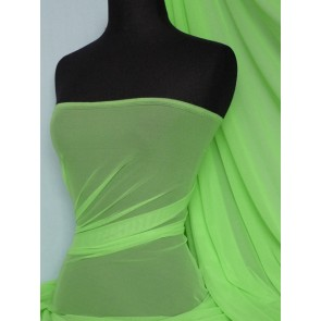 Flo green LT power mesh 4 way stretch fabric 109LT FLGR