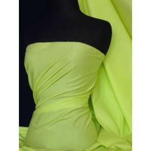 Flo Lime Stretch Cotton Poplin Fabric Q448 FLOLM