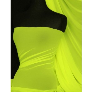 Flo Yellow LT Power Mesh 4 Way Stretch Fabric 109LT FLYL