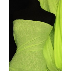 Fluorescent Yellow Loop Back Jersey Sweatshirt Q973 FLYL
