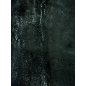 Black Luxury Faux Imitation Fur Fabric FR BK