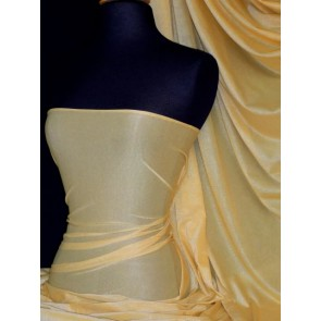 Gold Sheer Stretch Fabric With Subtle Shimmer