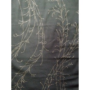 Black/ Gold Tree Branch Stretch Helenka Mesh Sheer Material HM BKGLD