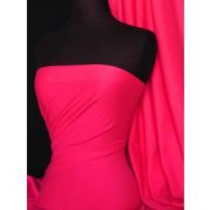 Hot Pink Cotton Interlock Jersey Material T-Shirts Q60 HTPN
