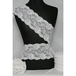 White Orchid Design Lace Trimming SY69 WHT