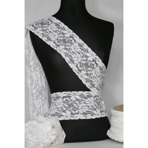 Pure White Floral Lace Trimming SY68 WHT