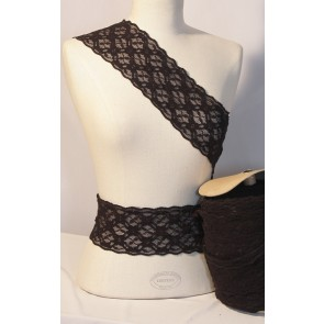 Black Diamond Scalloped Lace Trimming SY73 BK