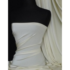 Ivory 4 way stretch shiny lycra fabric material